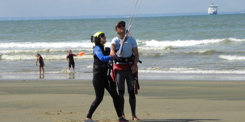 Initiation au Kite Surf, face à l'Angleterre