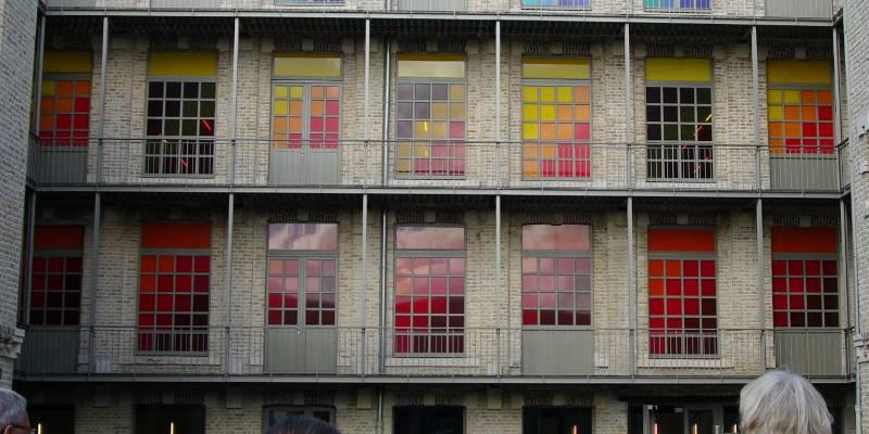 Cour intérieure de la Cité internationale de la dentelle